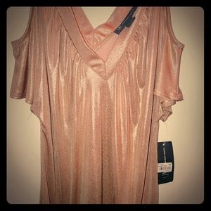 Gold shimmer dress/top by International Concepts